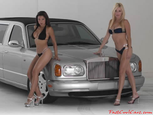 1999 Rolls Royce SS with a couple pretty ladies
