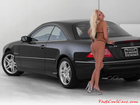 2003 Mercedes Benz CL55 with a pretty blonde