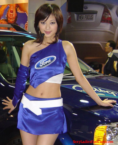 Pretty lady as Ford model.