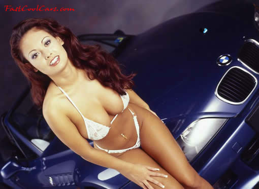 Beautiful lady and BMW Z3