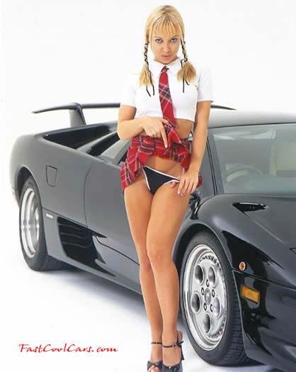 Sexy Girls and Lamborghini Cars
