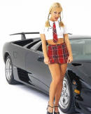 Lamborghini and young lady