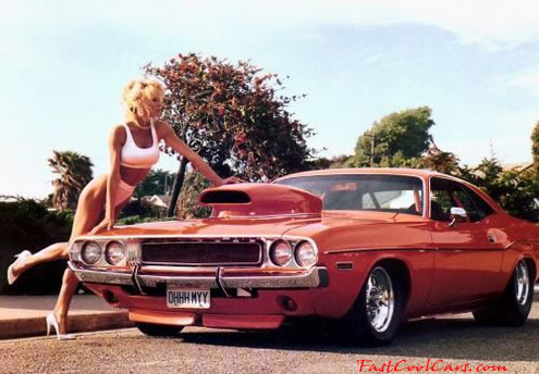 Sexy Lady and Fast Cool Car Mopar
