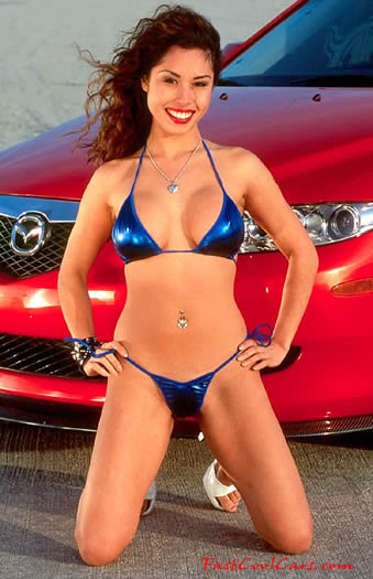 pretty woman with Import car