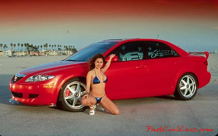 sexy lady with cool car