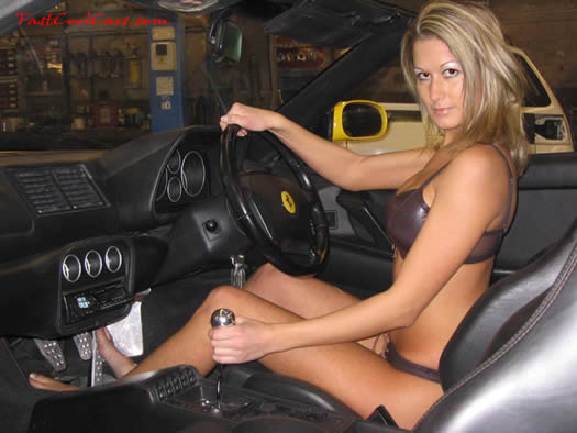 Sexy lady and Ferrari