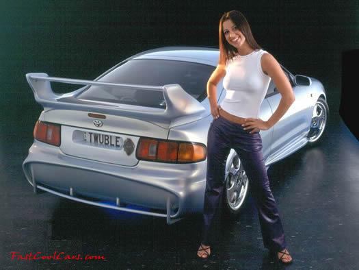 beautiful woman and Fast and the furious type import ride