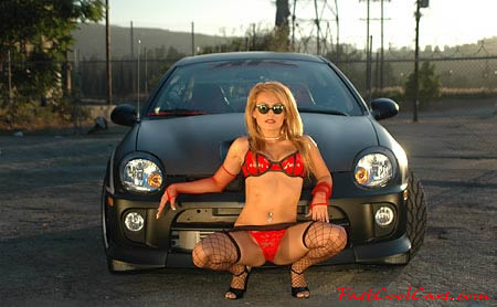 Sexy lady and Fast and the furious type import ride