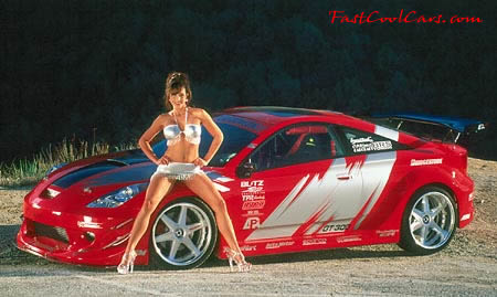 Pretty lady and Fast and the furious type import ride