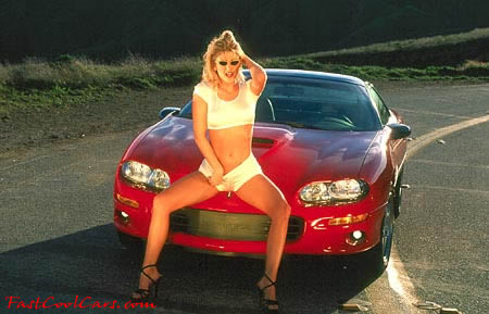 Chevrolet Carmaro SS, with sexy lady