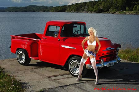 Classic Chevrolet pick-up with model