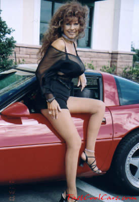 C4 Chevrolet Corvette with pretty lady