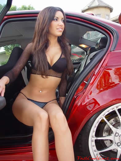 Sexy lady and a sweet fast and the furious import
