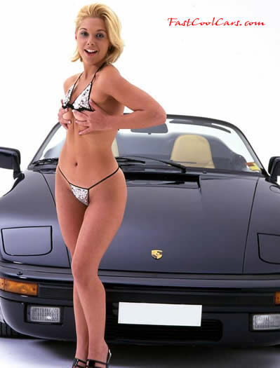 Sexy Girls and Porsche Speedster car Wallpaper