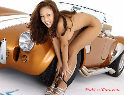 Sexy girls in fast cars — photo 7