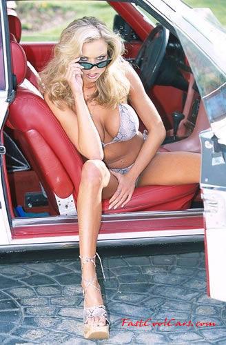 pretty blonde in her mercedes