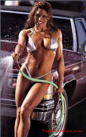 Model washing Cadillac