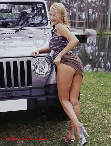 waiting for her Jeep to dry to take it to the mountains